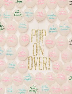 """Why Balloons Are What's Missing From Your Wedding: Balloon escort """"cards""""; Seating Chart Wedding, Seating Charts, Wedding Table, Wedding Favors, Wedding Invitations, Wedding Day, Wedding Decorations, Wedding 2017, Wedding Dreams"""