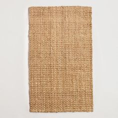 for living room under couch, layered with cowhide rug/ Basket Weave Jute Rug, World Market  6'x9' $150  8'x10' $250  9'x12' $370