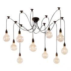 Edison Lámpara de araña Edison - Disponible en 6, 10 y 14 bombillas