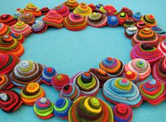 this could make a great wreath for a child's room or a whimsical tree garland