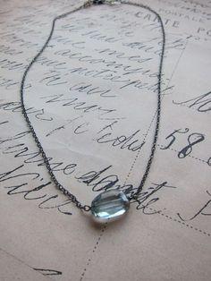 Blue topaz necklace; Etsy shop: eliwill; $37