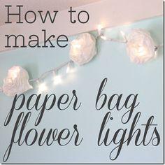 paper bag flower lights