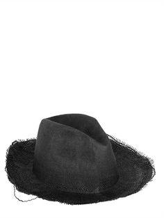 REINHARD PLANK - RIPPED STRAW HAT Mens Straw Hats 11b02762028c