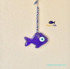 Fish Evil Eye charm Good luck charm Talisman by hippiefishbeachart