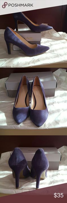 """PURPLE SUEDE FRANCO SARTO PUMPS There are some  places on the shoes where the suede is lighter than others. The shoes are new but they may have been tried on, or may have been the display model.   Heel Height is 3"""" Franco Sarto Shoes Heels"""