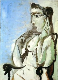 Female nude sitting in the armchair - Pablo Picasso 1964