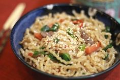 Chap Chae (Korean Noodles) Recipe via The Sweet & Sour Chronicles >> #WorldMarket Global Gourmet