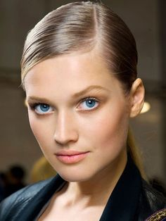 Beauty tip: using white eyeliner on your bottom lash line makes your eyes look bigger.