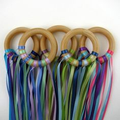 Rings/ribbons for music and movement. Ragan would love these...I'm going to look for some for their Easter baskets
