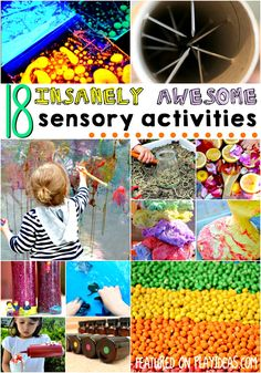 Make your child's day when you set up one of these 18 activities for sensory play! Your kid will have a blast, and you just might even get some quiet time..
