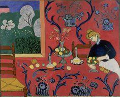 アンリ・マティス 《赤い部屋(赤のハーモニー)》  1908年 油彩・カンヴァス    ©Photo: The State Hermitage Museum, St. Petersburg, 2012  ©2011 Succession H.Matisse / SPDA, Tokyo
