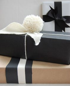 a bunch of great gift wrapping ideas