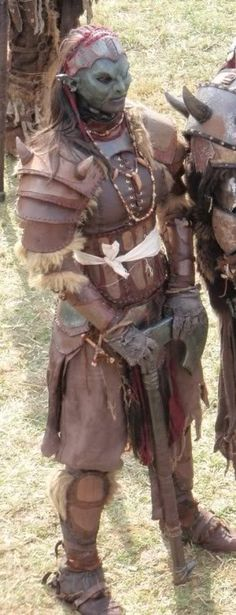 Female Orc cosplay (Orc women do exist in Tolkien's world, only hardly any of them goes to war)