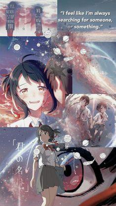 Anime Kimi No Na Wa Your Name Wallpaper Lockscreen Hd Fondo De Pantalla Aesthetic Collage