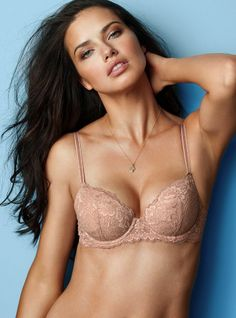 Worn by   Angel Adriana Lima Type   Demi Bra Color   Blush Lace b2cd8c770