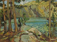 View Lake Mazinaw by Arthur Lismer on artnet. Browse upcoming and past auction lots by Arthur Lismer. Group Of Seven Art, Group Of Seven Paintings, Canadian Painters, Canadian Artists, Tom Thomson Paintings, Coastal Paint, Dazzle Camouflage, Living Colors, Emily Carr