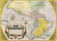 Antique Maps of the WorldThe AmericasAbraham Orteliusc 1579 | Looking Through The Lens