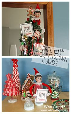 Free Elf on the Shelf Countdown Cards! So easy to print and cut out. Great way to add something to the elf tradition!