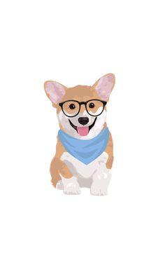 Simple Cute Cartoon Animal Wallpaper For Iphone Corgi Cartoon, Cute Cartoon Animals, Cute Animals, Corgi Wallpaper Iphone, Animal Wallpaper, Cute Dog Wallpaper, Corgi Drawing, Cute Corgi, Boxing Day