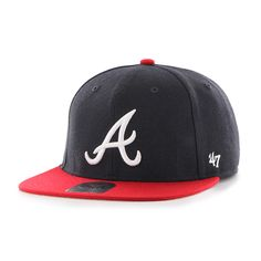 Atlanta Braves Lil Shot Two Tone Captain Navy 47 Brand YOUTH Hat 0eef15ee4f36