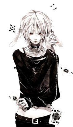 fanart anime cards black & white