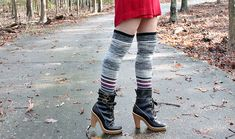 Gina Michele: diy reconstruction: sweater into legwarmers