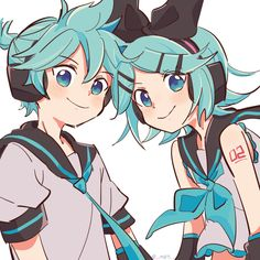 oh this is so cute! Len Y Rin, Kagamine Rin And Len, Hatsune Miku, Kaito, Loki, Character Art, Character Design, Vocaloid Characters, Miku Chan