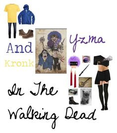 """Yzma and Kronk in The Walking Dead"" by foxykitty-1 ❤ liked on Polyvore featuring Jack & Jones, Yves Saint Laurent, Alexander Wang, Officine Generale and Burberry"
