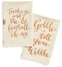 PRIMITIVES BY KATHY 'Thanksgiving' Dish Towels (Set of 2)