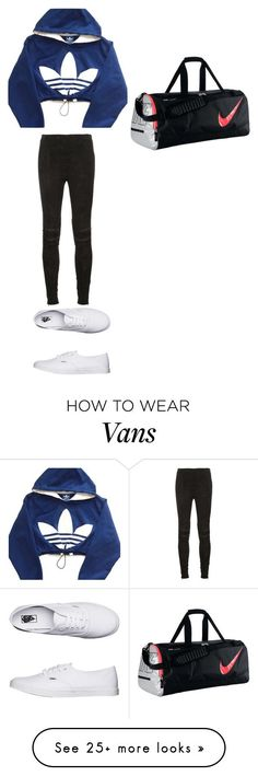 Без названия #1110 by gazieva-dinara on Polyvore featuring adidas, Yves Saint Laurent and Vans