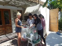 Our volunteers regularly collect rubbish off one of our local beaches. This is then sorted into trash and recycling so it can be disposed of responsibly. #CapeTownVolunteer #CTRCI