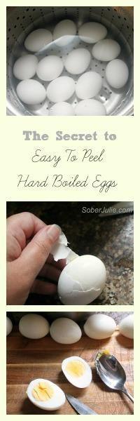 Easy to peel hard boiled eggs.... Make ahead breakfast protein