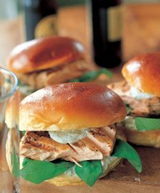Grilled Salmon Sandwiches from the Barefoot Contessa