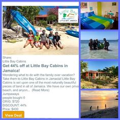 Check out: http://ift.tt/1olMGpA 44% off 4 nights at LBC - use from now- April 30 2017! #staylittlebay #littlebay #littlebaycabins #jamaica #Negril #westmoreland #travel #beach #vacation #deals #deal #sea #ocean #sun #waves #swimming #travelgram #funinthe