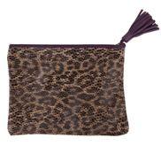 PENCIL CASE CLUTCHES - Leopard Skin Envelope Bag