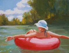 Original Fine Art By © Carol Carmichael in the DailyPaintworks.com Fine Art Gallery. Reminds me of my summer on Chickakoo lake. Look at all her work.