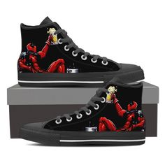 Deadpool Boozed High Top Canvas Shoes
