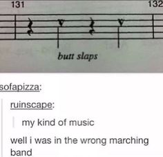 Well i was in the wrong marching band - Humor City Music Jokes, Music Humor, Funny Music, Marching Band Memes, Choir Memes, Funny Quotes, Funny Memes, Hilarious, Funny Tweets