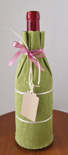 How to wrap a wine bottle.