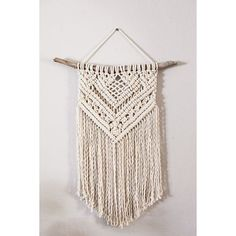 Cotton Macrame Wall Hanging ❤ liked on Polyvore featuring home and home decor
