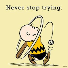 Image result for Peanuts never give up