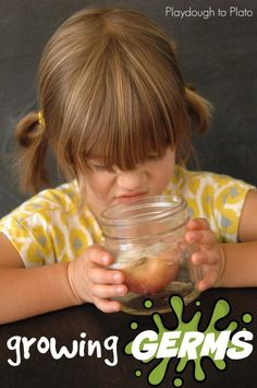 So awesome!! Grow germs to teach kids how important it is to wash their hands. Simple science for kids.
