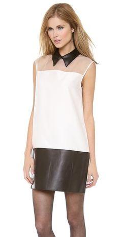 3.1 Phillip Lim Sleeveless Tuxedo Dress | SHOPBOP
