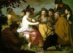 The Triumph of Bacchus (Greek title is Ο Θρίαμβος του Βάκχου) is a 1628 painting by Diego Velázquez, now in the Museo del Prado, in Madrid. The painting shows Bacchus surrounded by drunks. It is popularly known as Los borrachos or The Drunks. Spanish Painters, Spanish Art, Bacchus, Spanish Artists, Fine Art, Portrait Artist, Artist, Painting Reproductions, Art History