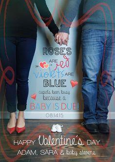 cute Valentine's Day pregnancy announcement :)