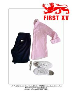 First XV Clothing. From the #summeressentials #menswear #wardrobemusthaves #shorts #chinos #converse #trainingshoes #D&G #watch  #clothing #footwear #shirt Exclusively online from www.firstxv.uk