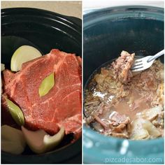 Cómo hacer barbacoa (en el horno, vaporera y crockpot - olla de lento cocimiento) www.pizcadesabor.com