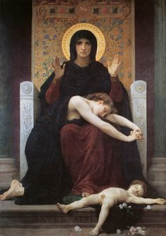 William-Adolphe Bouguereau - Virgin of Consolation (1875)