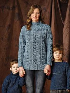 Penzance Cable - Knit this ladies cable sweater from Denim The Next Generation. A design by Martin Storey using Original Denim, a unique yarn that behaves li...