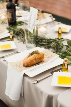 Italian dinner style wedding - photo by Julia Elizabeth Photography http://ruffledblog.com/italian-inspired-backyard-wedding